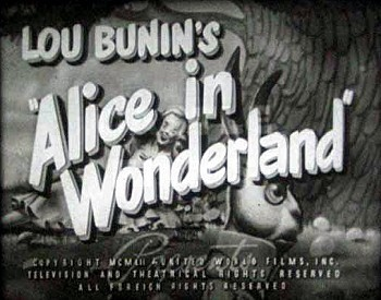 Alice Au Pays Des Merveilles English Reissue Title Card