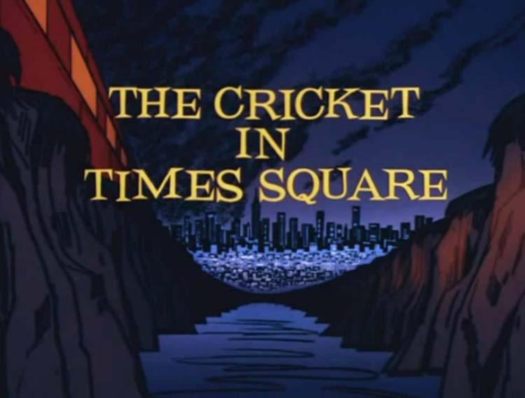 'The Cricket In Times Square Television Episode' Title Card
