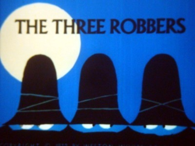 The Three Robbers Title Card