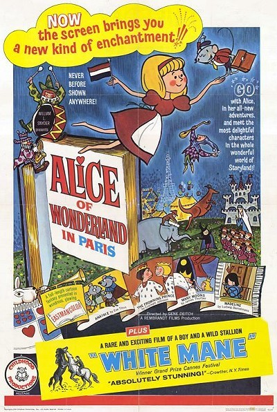 Alice Of Wonderland In Paris Original Release Poster