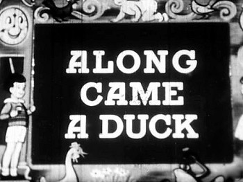 Along Came A Duck Reissue Title Card