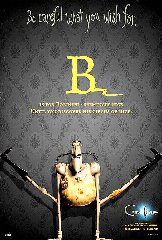 B is for Bobinski - seemingly nice. Until you discover his circus of mice