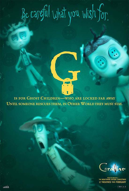 G is for Ghost Children - who are locked far away. Until someone rescues them, in Other World they must stay