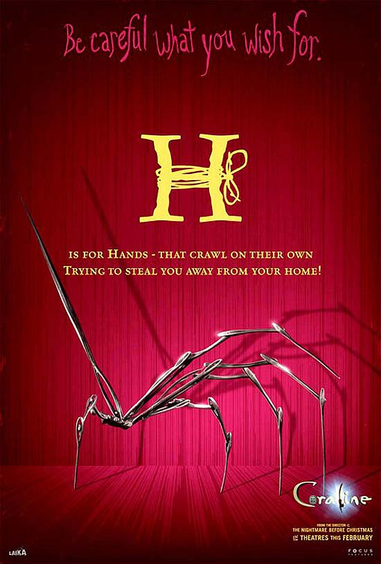 H is for Hands - that crawl on their own. Trying to steal you away from your home!