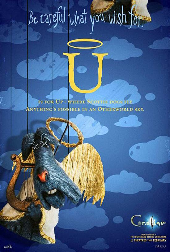 U is for Up - where Scottie dogs fly, anything's possible in the Otherworld sky