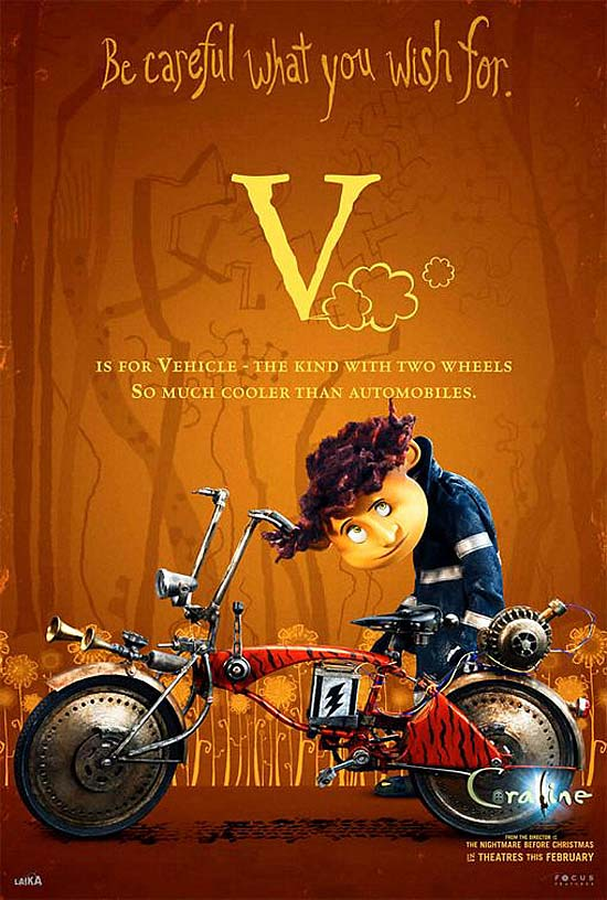 V is for Vehicle - the kind with two wheels, so much cooler than automobiles