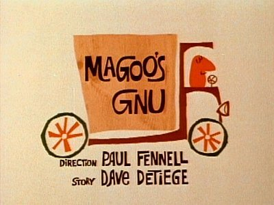 Magoo's Gnu Television Episode Title Card