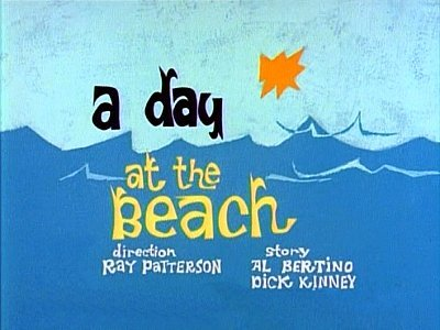 A Day at The Beach Television Episode Title Card