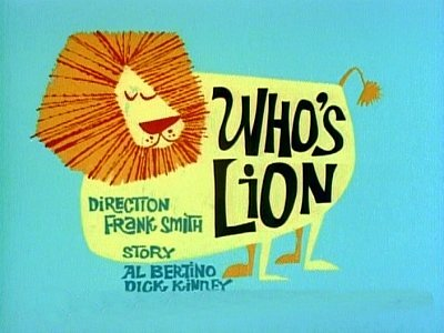 Who's Lion Television Episode Title Card