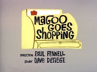 Magoo Goes Shopping Television Episode Title Card