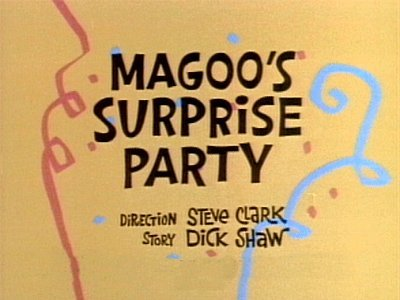 'Magoo's Surprise Party Television Episode' Title Card