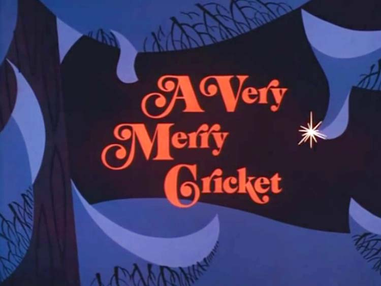A Very Merry Cricket Television Episode Title Card