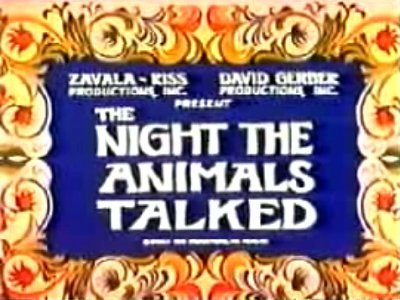 The Night The Animals Talked Television Episode Title Card