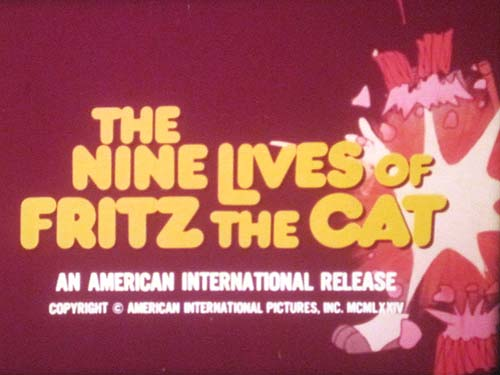 <i>The Nine Lives Of Fritz The Cat</i> Title Card