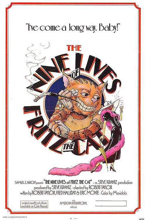 The Nine Lives Of Fritz The Cat Original Release Poster