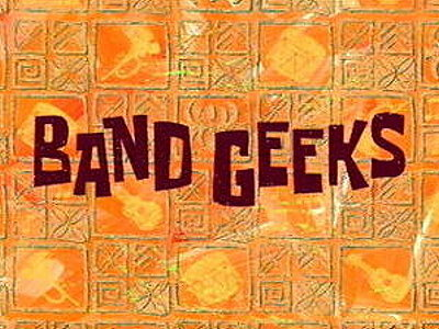 'Band Geeks Television Episode' Title Card