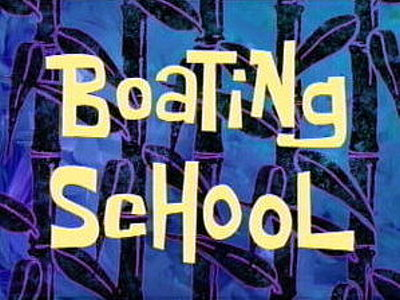 'Boating School Television Episode' Title Card