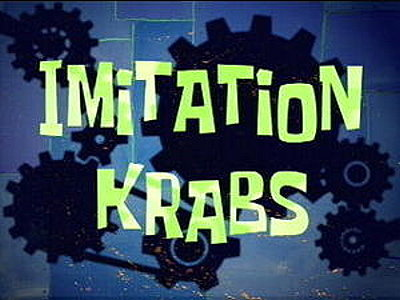 Imitation Krabs Television Episode Title Card