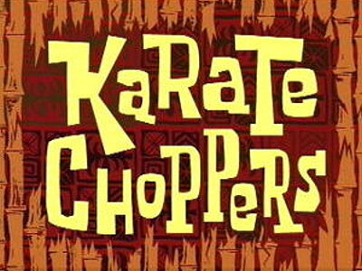 'Karate Choppers Television Episode' Title Card