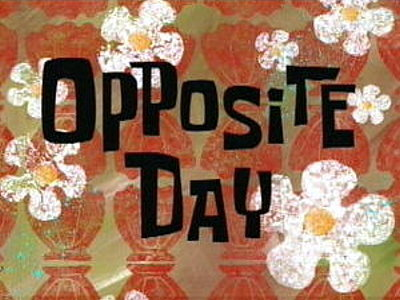 'Opposite Day Television Episode' Title Card