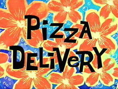 Pizza Delivery Television Episode Title Card
