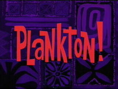 'Plankton! Television Episode' Title Card