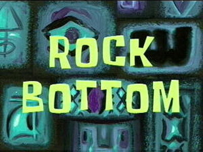 Rock Bottom Television Episode Title Card