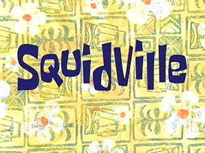 Squidville Television Episode Title Card