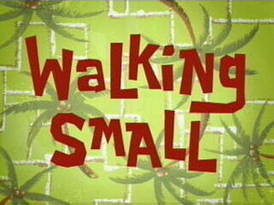 Walking Small Television Episode Title Card