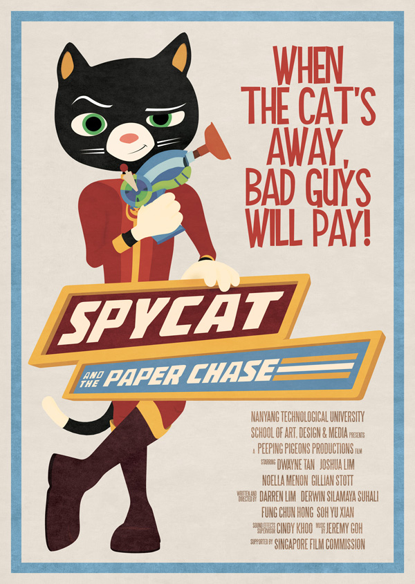 Spycat and the Paper Chase Original Poster