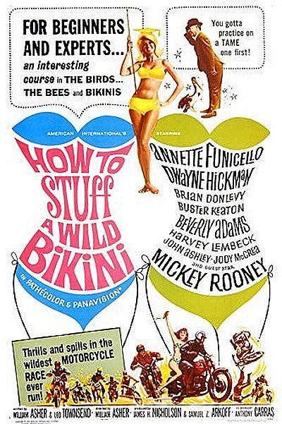 'How To Stuff A Wild Bikini' Original Release Poster