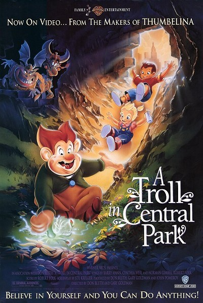 'A Troll In Central Park' Original Video Release Poster