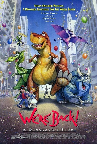 We're Back! A Dinosaur's Story Original Release Poster