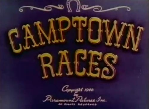 Camptown Races Original Title Card