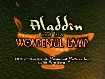 <i>Aladdin And His Wonderful Lamp</i> Title Card