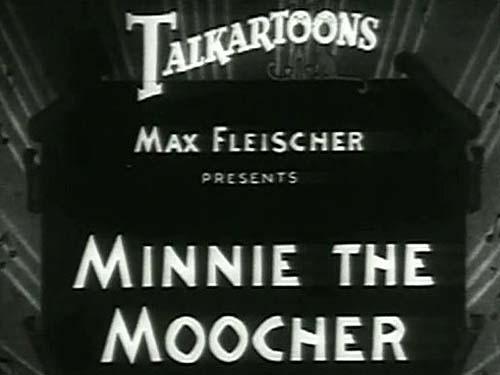 <i>Minnie The Moocher</i> Title Card