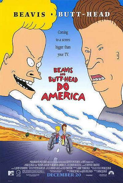 Beavis And Butt-head Do America Original Release Poster