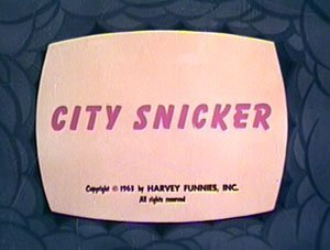 'City Snicker' Original Title Card