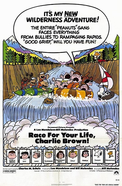 Race For Your Life, Charlie Brown Original Release Poster