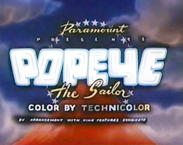 Popeye the Sailor Series Title Card
