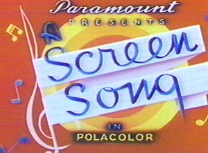 <i>Screen Songs</i> Series Title Card