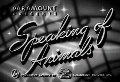 Speaking Of Animals Series Title Card