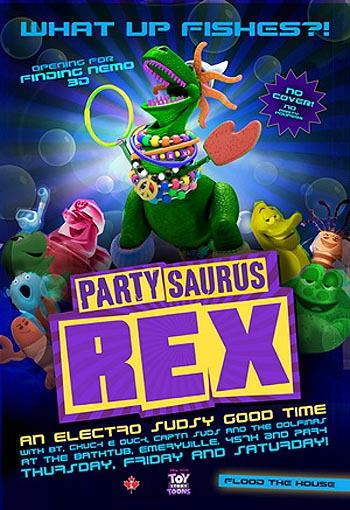 Partysaurus Rex Poster