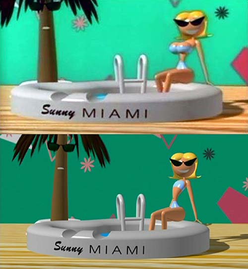 Sunny Miami  Original vs. Resissue