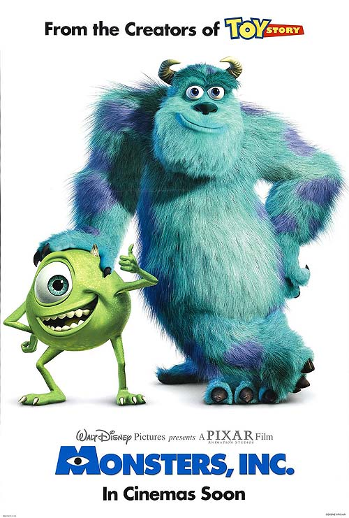 Monsters, Inc. Original Release Poster