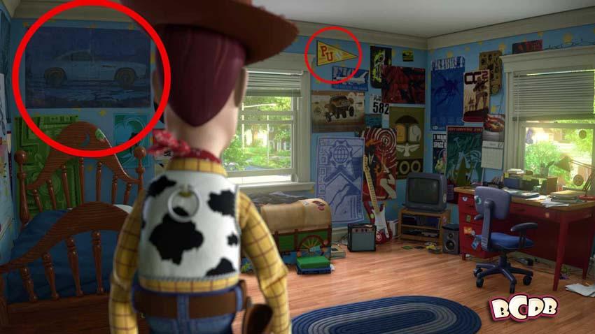 Finn McMis�sile poster & Pixar U penant