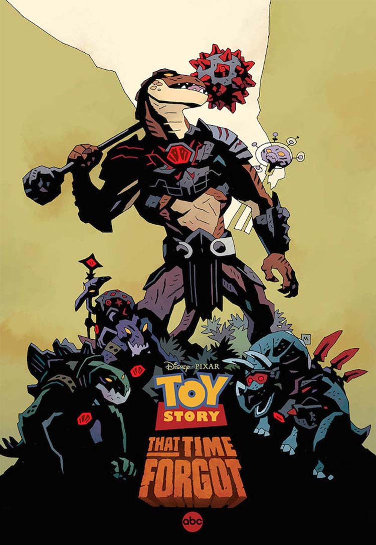 Toy Story That Time Forgot Poster Designed by comic artist Mike Mignola (Hellboy)
