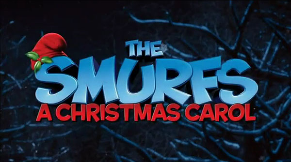 'The Smurfs: A Christmas Carol' Title Card