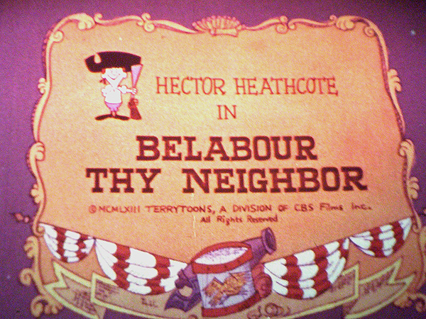 Belabour Thy Neighbor Title Card