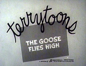 Goose Flies High Reissue Title Card